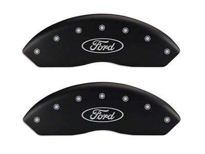 MGP Matte Black Caliper Covers w/ Ford Oval Logo - Front & Rear (97-03 F-150)