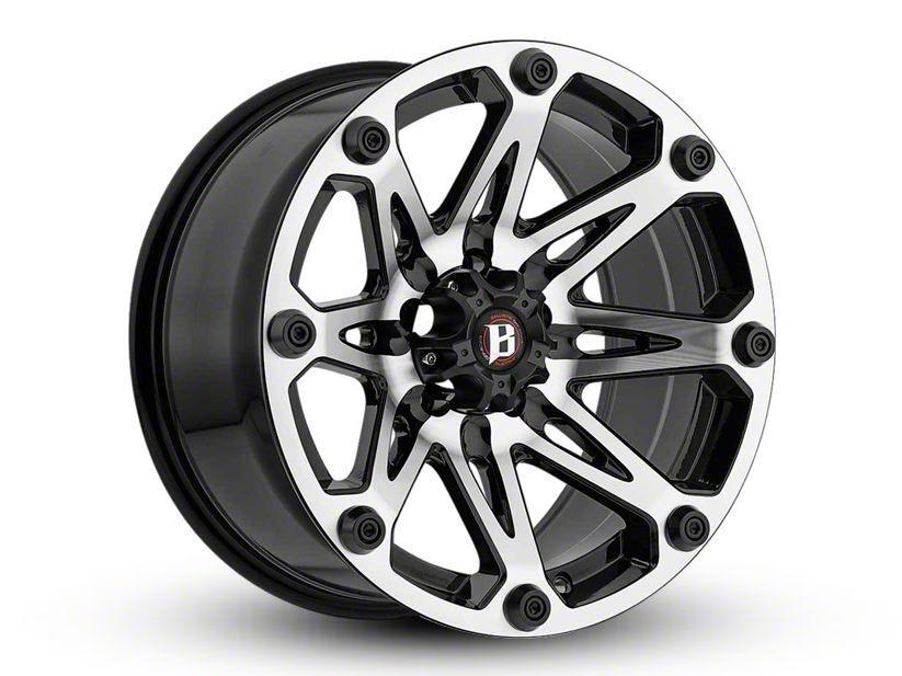 Ballistic Jester Flat Black Machined 6-Lug Wheel - 18x9 (04-19 F-150)
