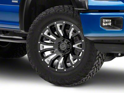 Black Rhino Pinatubo Gloss Black Milled 6-Lug Wheel - 20x9.5 (04-19 F-150)