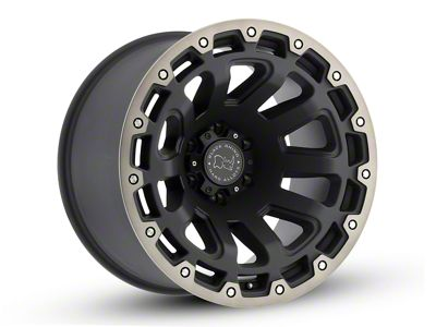 Black Rhino Razorback Matte Black Machined 6-Lug Wheel - 20x9 (04-18 F-150)