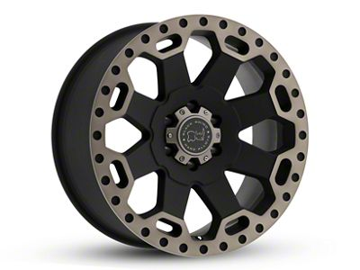 Black Rhino Warlord Matte Black Machined 6-Lug Wheel - 22x10 (04-18 F-150)