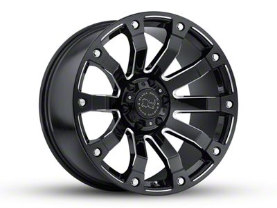 Black Rhino Selkirk Gloss Black Milled 6-Lug Wheel - 20x10 (04-18 F-150)