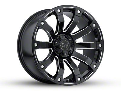 Black Rhino Selkirk Gloss Black Milled 6-Lug Wheel - 20x9 (04-18 F-150)