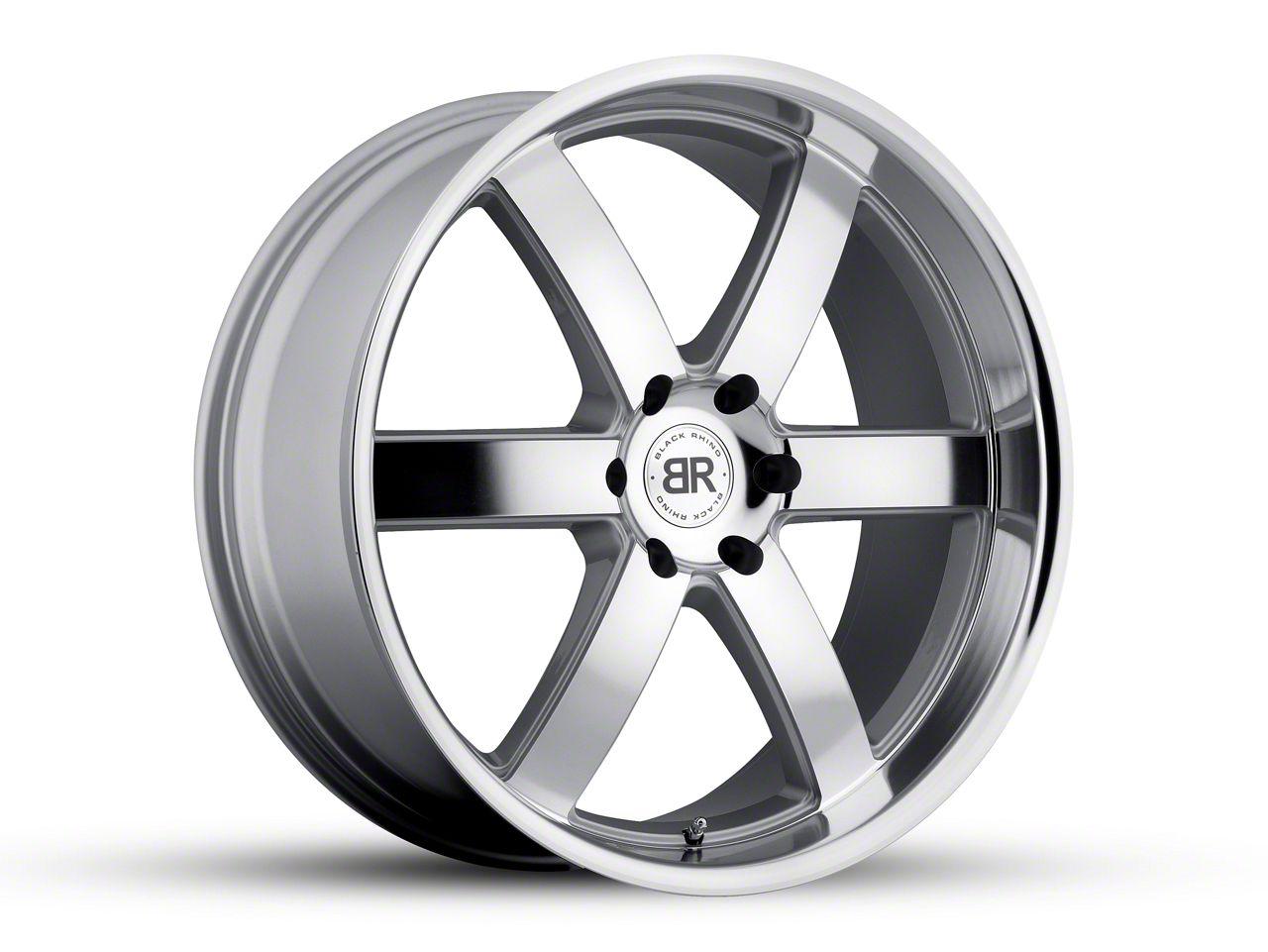 Black Rhino Pondora Silver 6-Lug Wheel - 22x9.5 (04-19 F-150)