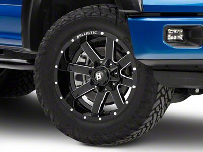 Ballistic Rage Gloss Black Milled 6-Lug Wheel - 20x10 (04-19 F-150)