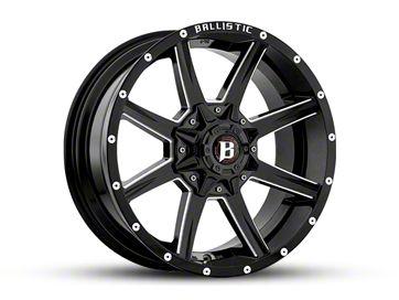 Ballistic Razorback Gloss Black Milled 6-Lug Wheel - 18x9 (04-18 F-150)