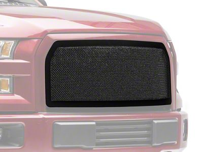 Modern Billet Wire Mesh Upper Grille Insert w/ Frame - Black (15-17 F-150, Excluding Raptor)