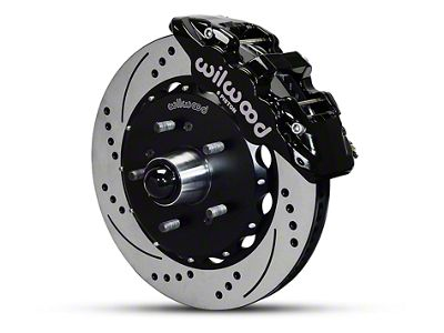 Wilwood AERO6 Front Brake Kit w/ Drilled & Slotted Rotors - Black (97-03 2WD F-150)