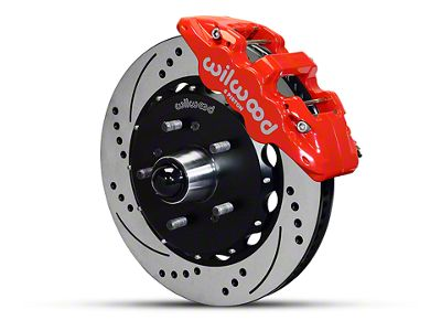 Wilwood AERO6 Front Brake Kit w/ Drilled & Slotted Rotors - Red (97-03 2WD F-150)