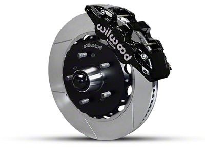 Wilwood AERO6 Front Brake Kit w/ Slotted Rotors - Black (97-03 2WD F-150)