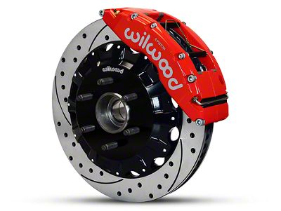 Wilwood TC6R 6-Lug Front Brake Kit w/ Drilled & Slotted Rotors - Red (04-08 2WD F-150)