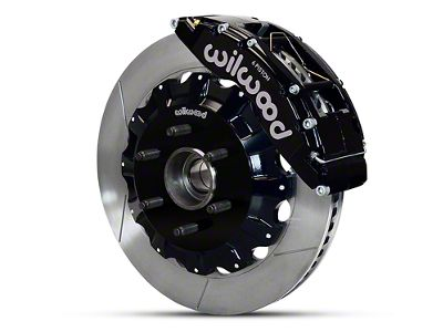 Wilwood TC6R 6-Lug Front Brake Kit w/ Slotted Rotors - Black (04-08 2WD F-150)
