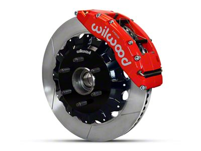Wilwood TC6R 6-Lug Front Brake Kit w/ Slotted Rotors - Red (04-08 2WD F-150)