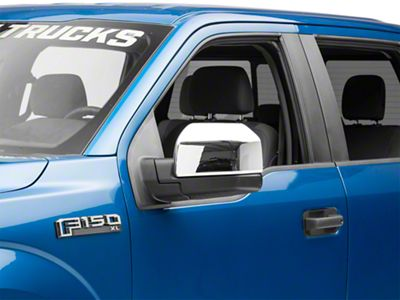 Black Horse Off Road Mirror Covers - Chrome (15-19 F-150 w/o Towing Mirrors)