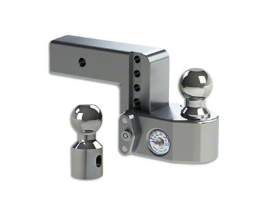 Weigh Safe 2.5 in. Receiver Hitch Adjustable Ball Mount w/ Built-In Scale - 4 in. Drop Hitch (97-18 F-150)