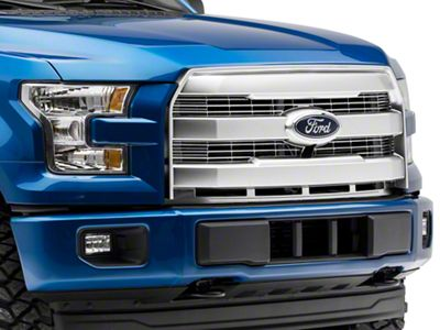 SpeedForm Upper Replacement Grille - Matte Chrome (15-17 F-150, Excluding Raptor)