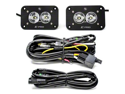 Baja Designs S2 Pro Flush Mount LED Light Backup Kit - Flood Beam