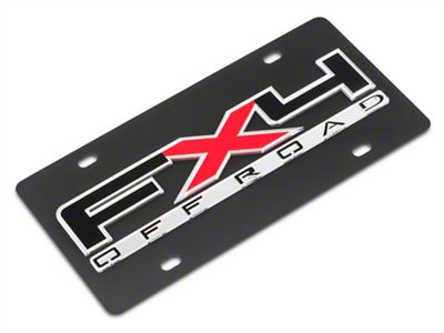 SpeedForm Carbon Steel License Plate w/ FX4 Off-Road Logo (97-19 F-150)
