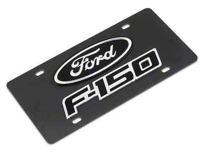 SpeedForm Carbon Steel License Plate w/ Ford Oval F-150 Logo (97-19 F-150)