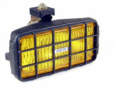 Delta 7x3.5 in. 250 Series Rectangular Amber Fog Lights - Pair