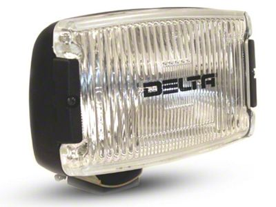 Delta 850H Series Black Rectangular Fog Light