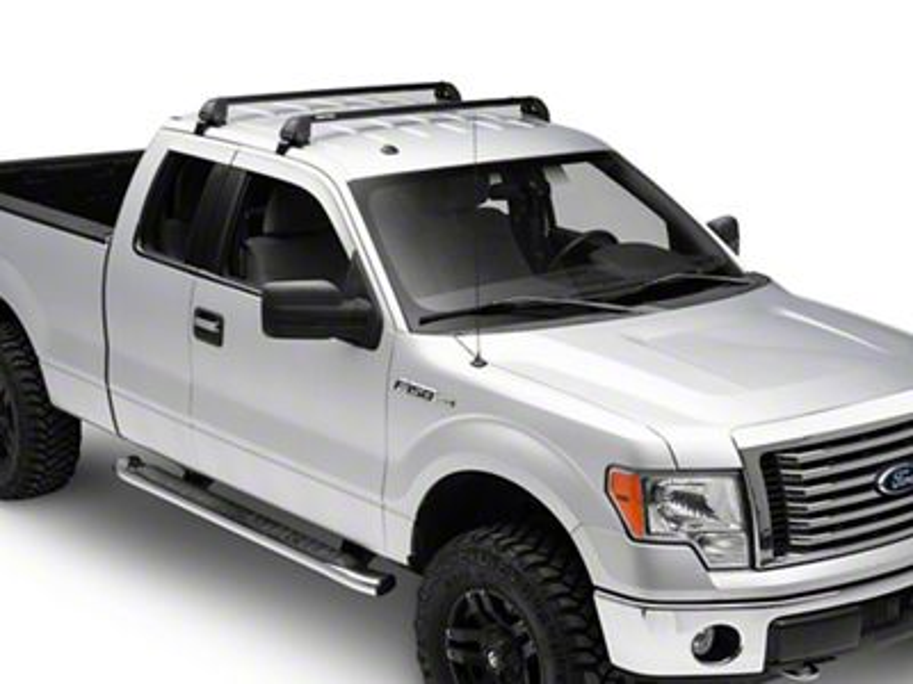 Rhino-Rack Vortex 2500 RS 2-Bar Roof Rack - Black (04-14 F-150 SuperCab)