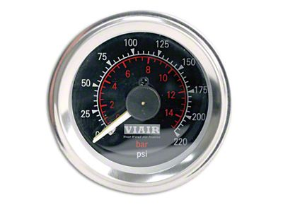 Viair Dual Needle Air Pressure Gauge - Black Face (97-19 F-150)