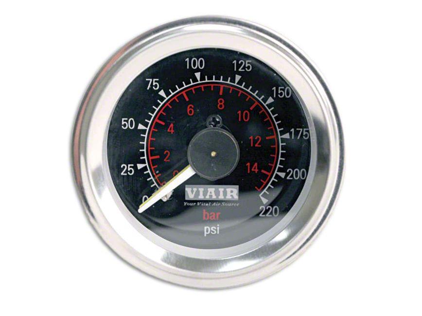 Viair Dual Needle Air Pressure Gauge - Black Face (97-18 F-150)