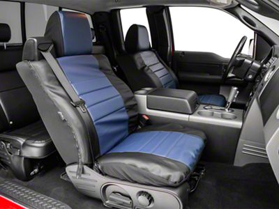 Fia Custom Fit Leatherlite Front Seat Covers - Blue (04-08 F-150 w/ Bucket Seats)