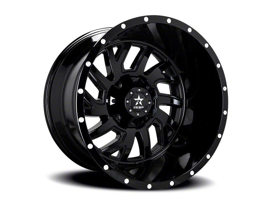 RBP 65R Glock Gloss Black w/ Machined Grooves 6-Lug Wheel - 20x12 (04-19 F-150)