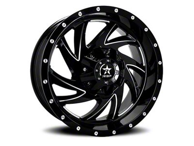 RBP 66R HK-5 Gloss Black w/ Machined Grooves 6-Lug Wheel - 20x12 (04-18 F-150)