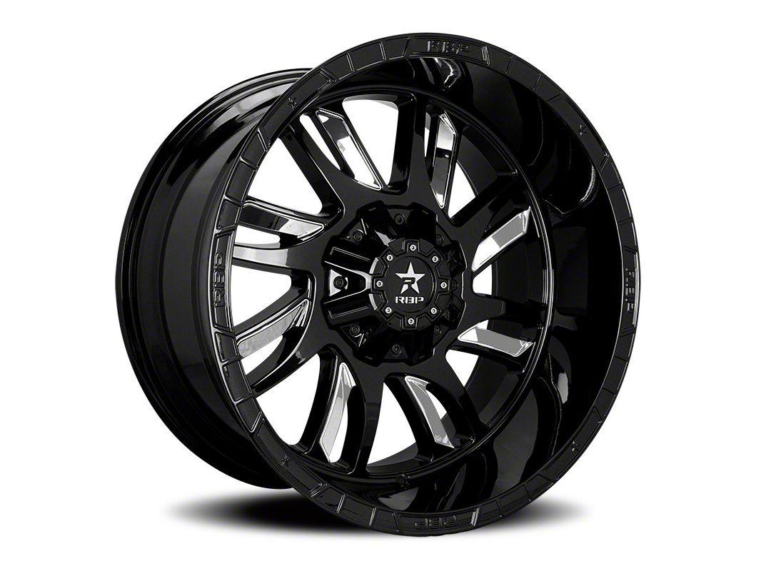 RBP 69R Swat Black w/ Chrome Inserts 6-Lug Wheel - 24x14 (04-19 F-150)
