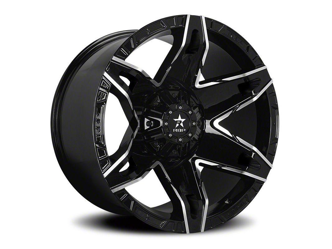 RBP 70R Quantum Gloss Black w/ Machined Grooves 6-Lug Wheel - 22x12 (04-18 F-150)