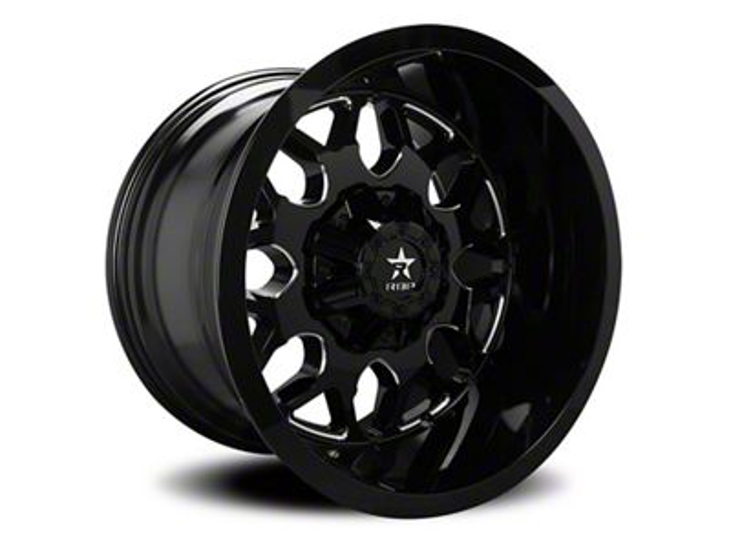 RBP 73R Atomic Gloss Black w/ Machined Grooves 6-Lug Wheel - 22x12 (04-19 F-150)