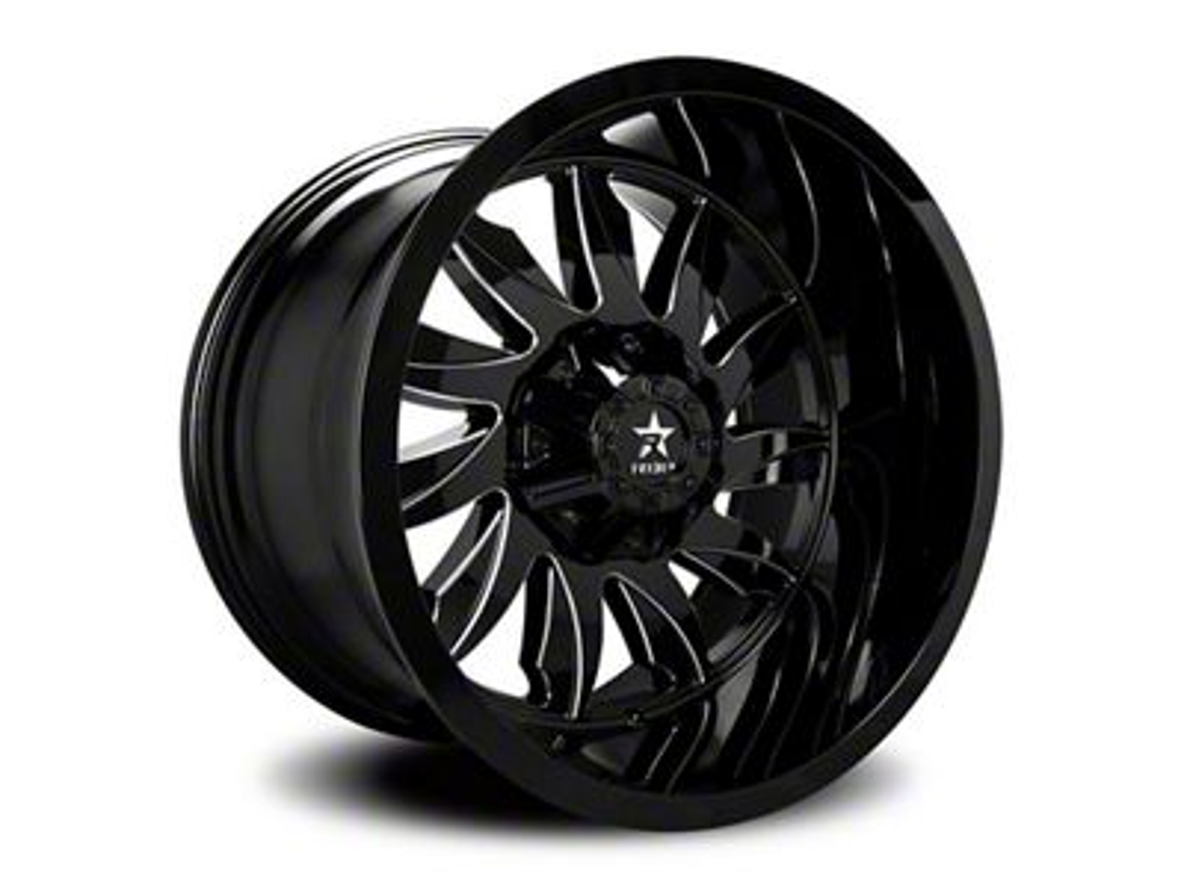 RBP 74R Silencer Gloss Black w/ Machined Grooves 6-Lug Wheel - 20x12 (04-19 F-150)