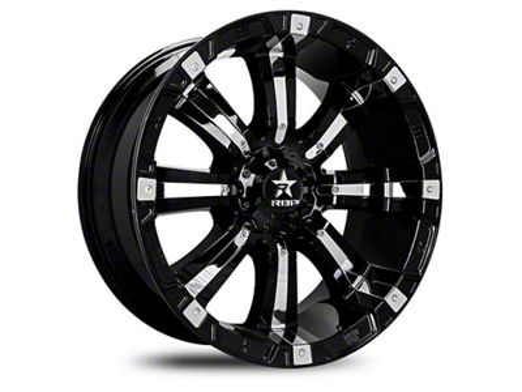 RBP 94R Black w/ Chrome Inserts 6-Lug Wheel - 22x12 (04-19 F-150)