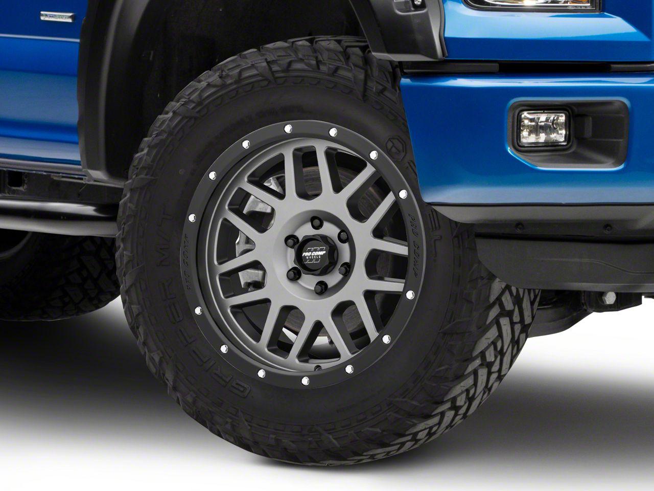 Pro Comp Vertigo Matte Graphite 6-Lug Wheel - 20x9 (04-19 F-150)