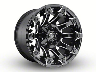 Fuel Wheels Battle Axe Gloss Black Milled 6-Lug Wheel - 20x12 (04-18 F-150)
