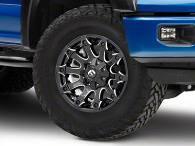Fuel Wheels Battle Axe Gloss Black Milled 6-Lug Wheel - 18x9 (04-19 F-150)