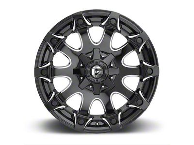Fuel Wheels Battle Axe Gloss Black Milled 6-Lug Wheel - 20x9 (04-18 F-150)