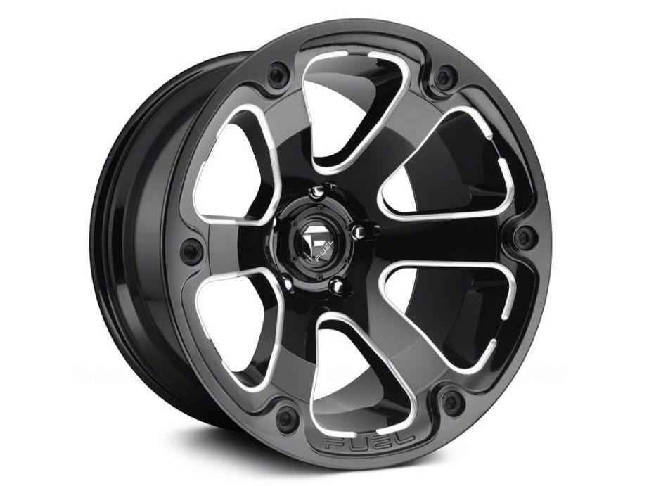 Fuel Wheels Beast Gloss Black Milled 6-Lug Wheel - 17x9 (04-19 F-150)