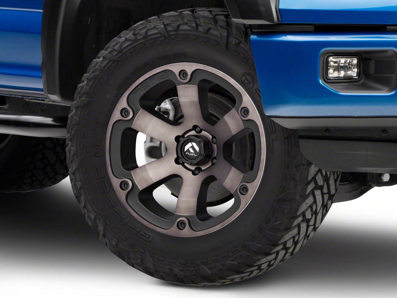 Fuel Wheels Beast Matte Black Machined 6-Lug Wheel - 20x9 (04-19 F-150)