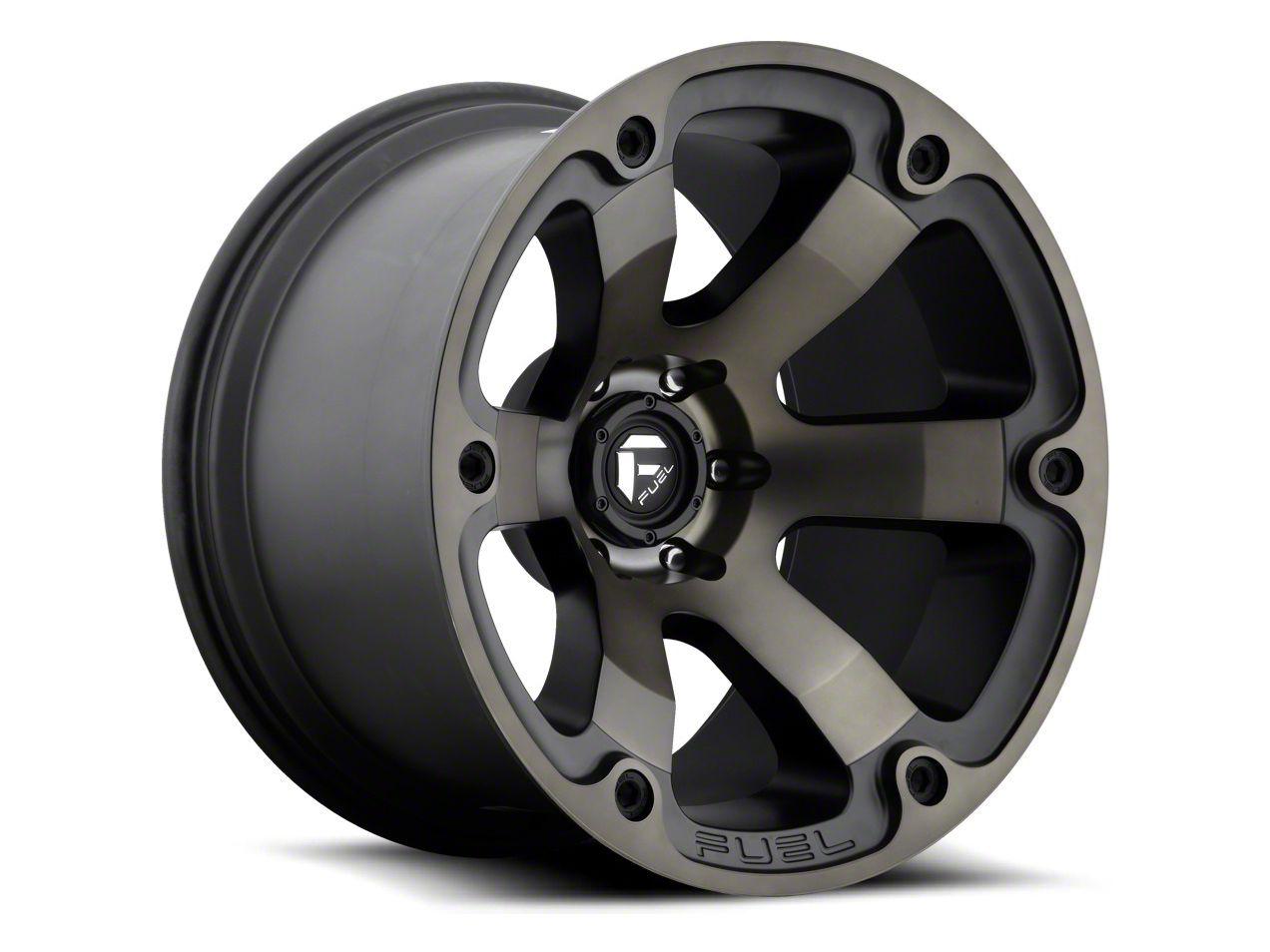 Fuel Wheels Beast Matte Black Machined 6-Lug Wheel - 22x12 (04-19 F-150)