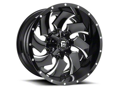 Fuel Wheels Cleaver Black Milled 6-Lug Wheel - 20x14 (04-18 F-150)
