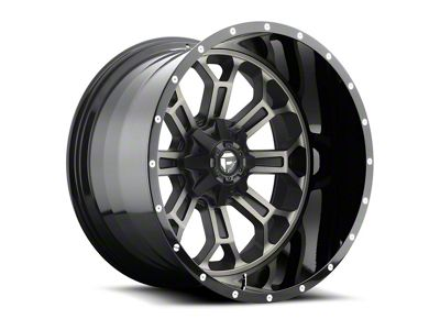 Fuel Wheels Crush Matte Black Machined 6-Lug Wheel - 20x12 (04-18 F-150)