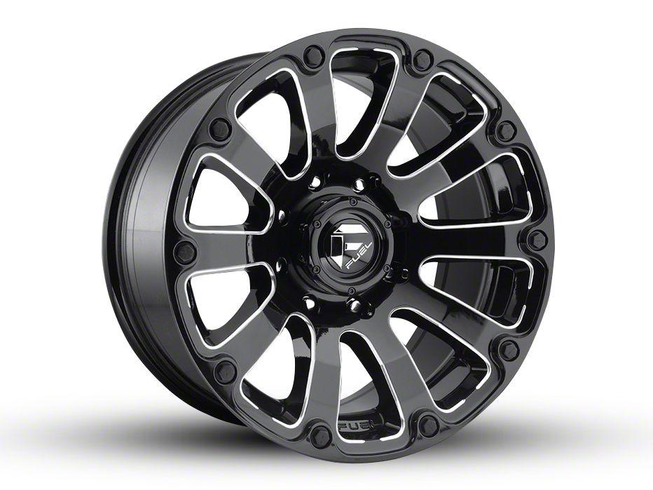 Fuel Wheels Diesel Gloss Black Milled 6-Lug Wheel - 20x10 (04-18 F-150)