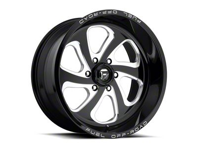 Fuel Wheels Flow Black Milled 6-Lug Wheel - 20x9 (04-18 F-150)
