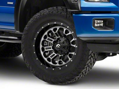 Fuel Wheels Crush Matte Black Machined 6-Lug Wheel - 20x10 (04-18 F-150)