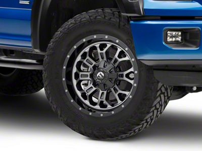 Fuel Wheels Crush Matte Black Machined 6-Lug Wheel - 20x9 (04-19 F-150)