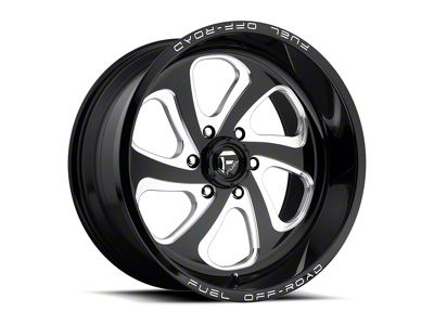Fuel Wheels Flow Gloss Black Milled 6-Lug Wheel - 18x9 (04-18 F-150)